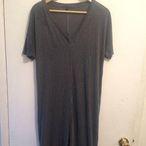 Blue Grey T Shirt Dress